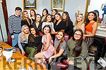 Grace Stack (seated centre) from Tralee celebrating her 18th birthday in Bella Bia on Saturday night.