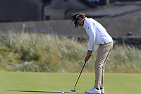 Pedro Figueiredo (POR) putts on the 2nd green during Thursday's Round 1 of the Dubai Duty Free Irish Open 2019, held at Lahinch Golf Club, Lahinch, Ireland. 4th July 2019.<br /> Picture: Eoin Clarke | Golffile<br /> <br /> <br /> All photos usage must carry mandatory copyright credit (© Golffile | Eoin Clarke)