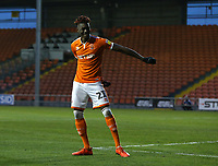 Blackpool's Armand Gnanduillet celebrates scoring the opening goal by doing the Floss<br /> <br /> Photographer Stephen White/CameraSport<br /> <br /> The EFL Sky Bet League One - Blackpool v Burton Albion - Saturday 24th November 2018 - Bloomfield Road - Blackpool<br /> <br /> World Copyright © 2018 CameraSport. All rights reserved. 43 Linden Ave. Countesthorpe. Leicester. England. LE8 5PG - Tel: +44 (0) 116 277 4147 - admin@camerasport.com - www.camerasport.com<br /> <br /> Photographer Stephen White/CameraSport<br /> <br /> The EFL Sky Bet League One - Blackpool v Burton Albion - Saturday 24th November 2018 - Bloomfield Road - Blackpool<br /> <br /> World Copyright © 2018 CameraSport. All rights reserved. 43 Linden Ave. Countesthorpe. Leicester. England. LE8 5PG - Tel: +44 (0) 116 277 4147 - admin@camerasport.com - www.camerasport.com