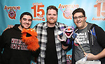 """Nick Kohn with Avenue Q & Puppetry Fans during """"Avenue Q"""" Celebrates World Puppetry Day at The New World Stages on 3/21/2019 in New York City."""