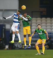 Queens Park Rangers' Nahki Wells and Preston North End's Darnell Fisher<br /> <br /> Photographer Rob Newell/CameraSport<br /> <br /> The EFL Sky Bet Championship - Queens Park Rangers v Preston North End - Saturday 19 January 2019 - Loftus Road - London<br /> <br /> World Copyright © 2019 CameraSport. All rights reserved. 43 Linden Ave. Countesthorpe. Leicester. England. LE8 5PG - Tel: +44 (0) 116 277 4147 - admin@camerasport.com - www.camerasport.com