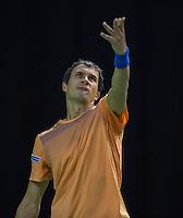 Rotterdam, Netherlands, 11 februari, 2017, ABNAMROWTT, Qualifyer, first round, Evgeny Donskoy (RUS)