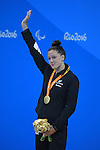 Sophie Pascoe (NZL), <br /> SEPTEMBER 12, 2016 - Swimming : <br /> Women's 100m Butterfly S10 Medal Ceremony <br /> at Olympic Aquatics Stadium<br /> during the Rio 2016 Paralympic Games in Rio de Janeiro, Brazil.<br /> (Photo by AFLO SPORT)
