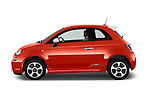 Car Driver side profile view of a 2014 Fiat 500e Hatchback 3 Door Hatchback Side View