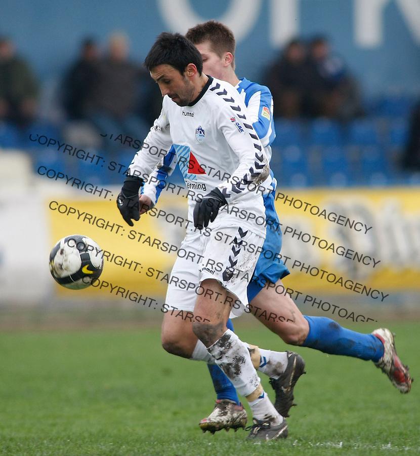 Fudbal, Jelen super liga, sezona 2009/2010.OFK Beograd Vs. BSK Borca.Aleksandar Djukic.Beograd, 12.12.2009..foto: Srdjan Stevanovic/Starsportphoto ©