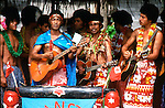 Tongan band playing in Nukau'lofa. Tonga, Tongan Islands, South Pacific