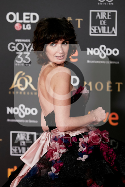 Paz Vega attends to 33rd Goya Awards at Fibes - Conference and Exhibition  in Seville, Spain. February 02, 2019. (ALTERPHOTOS/A. Perez Meca)