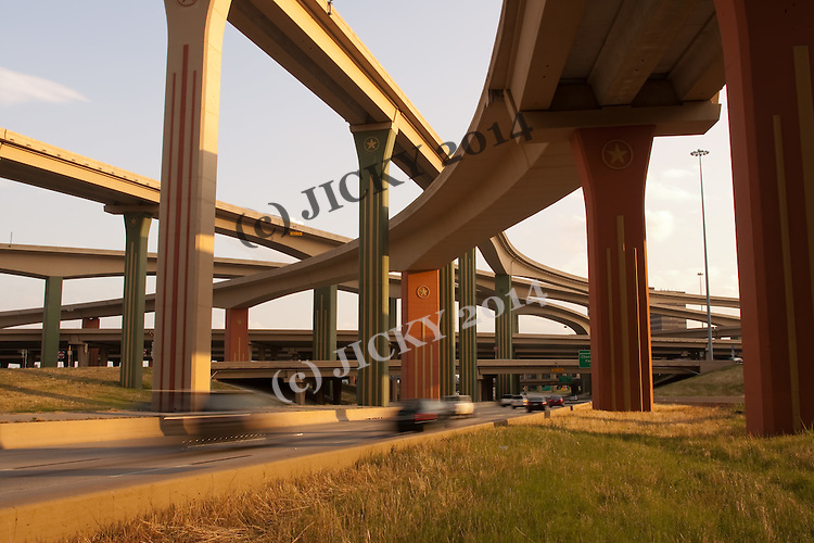 Dallas - Highway 75 and I-635 overpass