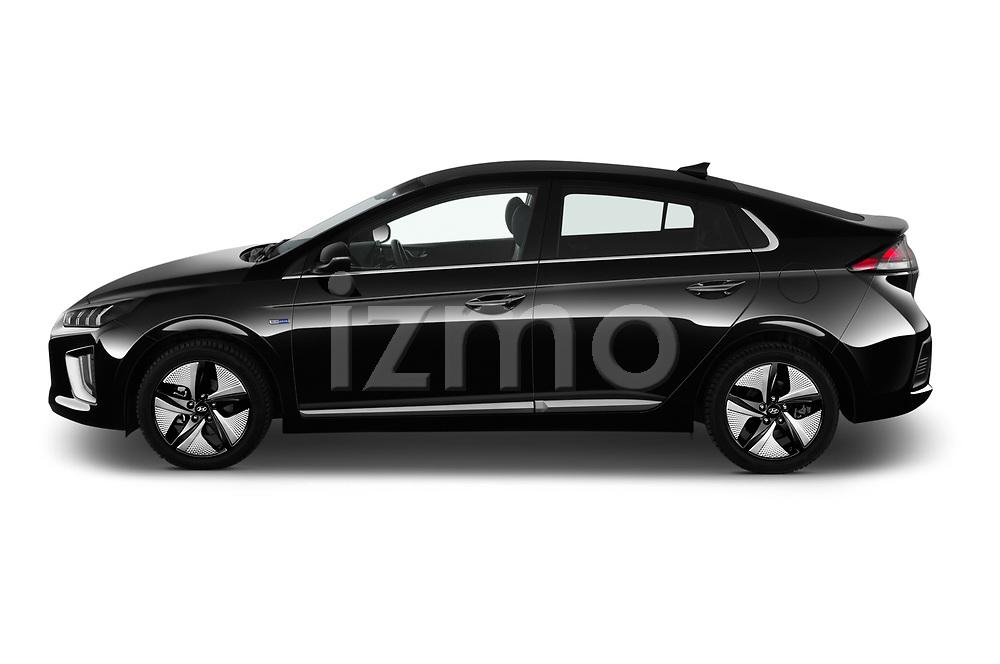 Car driver side profile view of a 2020 Hyundai Ioniq Hybrid Shine 5 Door Hatchback