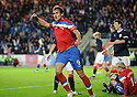 RANGERS' NIKICA JELAVIC CELEBRATES AFTER HE SCORES RANGERS' SECOND