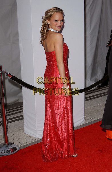 KRISTIN CHENOWETH .A The Placido Domingo & Friends Concert and Gala held at The Dorothy Chandler Pavilion in downtown L.A..red dress, full lenth, full-length.www.capitalpictures.com.sales@capitalpictures.com.©Capital Pictures