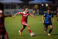 Kansas City, MO - Saturday May 27, 2017: Mallory Pugh, Desiree Scott during a regular season National Women's Soccer League (NWSL) match between FC Kansas City and the Washington Spirit at Children's Mercy Victory Field.