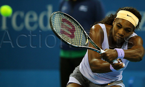 Oct 05, 2013; Beijing, CHINA; Serena Williams of USA defeats Agnieszka Radwanska of Poland 2:0 (6-2, 6-2) during a women's semifinal match at the Tennis China Open.