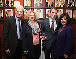 Jack Viertel, Victoria Bailey, Mike Isaacson and Charlotte St. Martin attends the The Robert Whitehead Award presented to Mike Isaacson at Sardi's on May 10, 2017 in New York City.