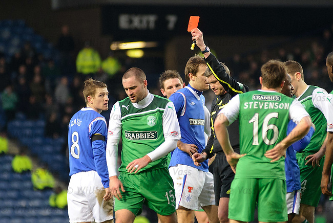 James McPake sent off for second yellow card offence