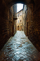 Entry into old town of Volterra, Italy