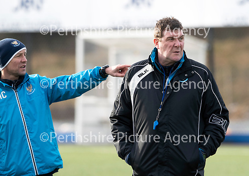 St Johnstone Training…05.02.19<br />Manager Tommy Wright and assitant Alec Cleland pictured during training this morning at McDiarmid Park ahead of tomorrow's game at Hamilton<br />Picture by Graeme Hart.<br />Copyright Perthshire Picture Agency<br />Tel: 01738 623350  Mobile: 07990 594431