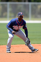 Minnesota Twins third baseman Miguel Sano #24 during a minor league Spring Training game against the Boston Red Sox at JetBlue Park Training Complex on March 27, 2013 in Fort Myers, Florida.  (Mike Janes/Four Seam Images)