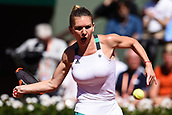 June 10th 2017, Roalnd Garros, paris, France. French Open tennis tournament, womens singles final, Jelena Ostapenko (lat) versus Simona Halep (Rom); Simona Halep (Rom) on the end of a shock 3 set loss to Jelena Ostapenko (lat)