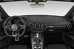Stock photo of straight dashboard view of a 2019 Audi TT-Coupe Base 2 Door Coupe