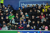 Swansea City fans in action during the Sky Bet Championship match between Swansea City and Barnsley at the Liberty Stadium in Swansea, Wales, UK. Sunday 29 December 2019
