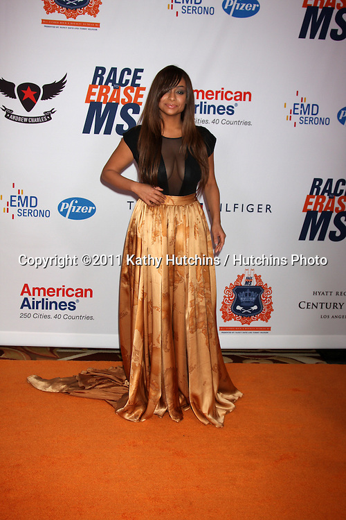 LOS ANGELES - APR 29:  Raven Symone arriving at the 18th Race to Erase MS Event at Century Plaza Hotel on April 29, 2011 in Century City, CA..