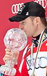 13.03.2010, Goudyberg Herren, Garmisch Partenkirchen, GER, FIS Worldcup Alpin Ski, Garmisch, Men Slalom, im BildPodium Slalom Weltcup 2009 2010 Herren, erstplazierte Herbst Reinfried, ( AUT ), mit der kleinen Kristallkugel, EXPA Pictures © 2010, PhotoCredit: EXPA/ J. Groder
