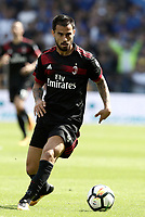 Calcio, Serie A: Genova, Stadio Luigi Ferraris, 24 settembre 2017. <br /> Milan's Jesus Suso in action during the Italian Serie A football match between Sampdoria and Milan at Genova's Luigi Ferraris stadium. September 24, 2017.<br /> UPDATE IMAGES PRESS/Isabella Bonotto