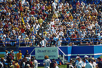 Iowa native and Southwest Missouri State University senior Blake Boldon is honored after his victory in the University and College 1500-meters at the 2003 Drake Relays in Des Moines, Iowa, April 23-26. Boldon finished in 3:45.20 for the victory.