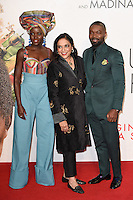 """Lupita Nyong'o, director Mira Nair and David Oyelowo<br /> at the London Film Festival 2016 premiere of """"Queen of Katwe"""" at the Odeon Leicester Square, London.<br /> <br /> <br /> ©Ash Knotek  D3168  09/10/2016"""