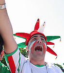 11 June 2006: An Iran fan. Mexico played Iran at the Frankenstadion in Nuremberg, Germany in match 7, a Group D first round game, of the 2006 FIFA World Cup.