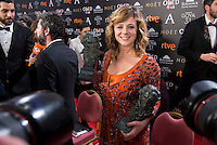 Emma Suarez pose to the media with both Goya award at Madrid Marriott Auditorium Hotel in Madrid, Spain. February 04, 2017. (ALTERPHOTOS/BorjaB.Hojas) /NORTEPHOTO.COM