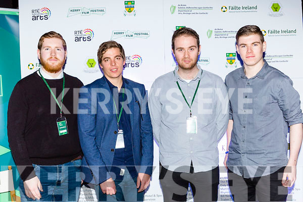 Aaron O'Neill Cromane, Gordon Black Millstreet, Mark riordan Killorglin and Conor O'Neill Cromane at the Kerry Film Festival in the Gleneagle Hotel on Sunday night