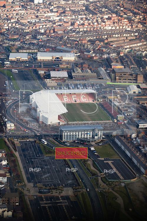 Seasiders Way road alterations outside Blackpool FC's Bloomfield Stadium
