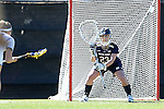 DURHAM, NC - FEBRUARY 26: Notre Dame's Samantha Giacolone. The Duke University Blue Devils hosted the University of Notre Dame Fighting Irish on February, 26, 2017, at Koskinen Stadium in Durham, NC in a Division I College Women's Lacrosse match. Notre Dame won the game 12-11.