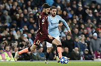 1899 Hoffenheim's Florian Grillitsch under pressure from Manchester City's Bernardo Silva<br /> <br /> Photographer Rich Linley/CameraSport<br /> <br /> UEFA Champions League Group F - Manchester City v TSG 1899 Hoffenheim - Wednesday 12th December 2018 - The Etihad - Manchester<br />  <br /> World Copyright © 2018 CameraSport. All rights reserved. 43 Linden Ave. Countesthorpe. Leicester. England. LE8 5PG - Tel: +44 (0) 116 277 4147 - admin@camerasport.com - www.camerasport.com