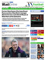 Mail Online - 29-Dec-2019 - 'David Moyes is set to name Stuart Pearce and Alan Irvine as his assistants at West Ham' - Photo by Rob Newell (Camerasport via Getty Images)