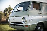 NEW ZEALAND, Oamaru, Retro Dodge Van in a Campground, Ben M Thomas
