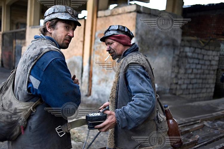 Two coal mines at the Lonea coal mine.