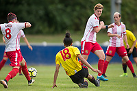 Natalie Murray of Watford Ladies scores her 2nd goal during the pre season friendly match between Stevenage Ladies FC and Watford Ladies at The County Ground, Letchworth Garden City, England on 16 July 2017. Photo by Andy Rowland / PRiME Media Images.