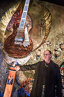 LAS VEGAS, NV - January 16 : Artist Dale Evers  pictured as House of Blues Las Vegas unveils 13-foot high guitar sculpture ?Wings of Legend? that will commemorate the return of Carlos Santana's residency: An Intimate Evening with Santana: Greatest Hits Live - Yesterday, Today & Tomorrow and continue the 20th Anniversary celebration of the House of Blues brand at House of Blues at Mandalay Bay in Las Vegas, Nevada on January 16, 2013. Credit: Kabik/Starlitepics/MediaPunch Inc. ***HOUSE COVERAGE*** /NortePhoto