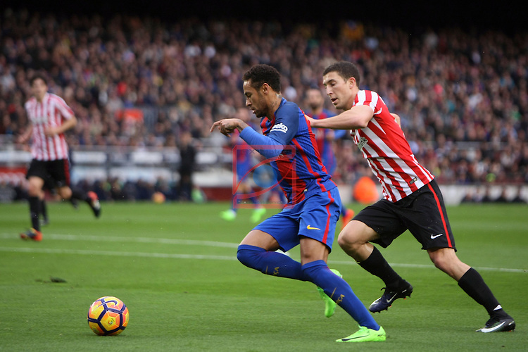 League Santander 2016/2017. Game: 21.<br /> FC Barcelona vs Athletic Club: 3-0.<br /> Neymar Jr vs De Marcos.