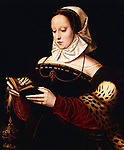 Benson, Ambrosius (1495-1550)<br /> Saint Mary Magdalen (oil on panel)<br /> 16th century<br /> Private Collection