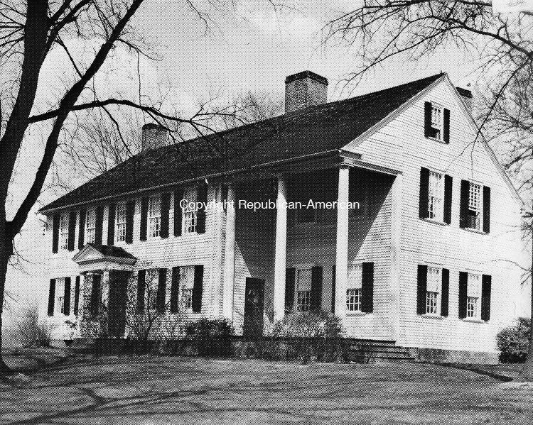 Frederick Stone negative. Windsor  - Oliver Ellsworth Home. undated