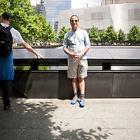 HSUL 20140530 United States, New York. Visitors at the 9/11 Memorial. Jeff Wagman. Photographer: David Brabyn