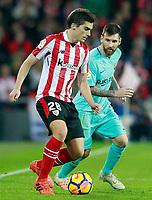 Athletic de Bilbao's Inigo Cordoba (l) and FC Barcelona's Leo Messi during La Liga match. October 28,2017. (ALTERPHOTOS/Acero) /NortePhoto.com