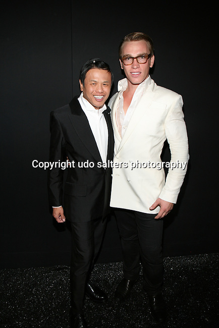 Zang Toi and Nick Gruber Backstage at Zang Toi Spring 2014 Fashion Show Held During Mercedes Benz Fashion Week NY