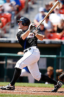 July 30, 2009:  Outfielder Josh Peterson of the Buffalo Bisons at bat during a game at Coca-Cola Field in Buffalo, NY.  Buffalo is the International League Triple-A affiliate of the New York Mets.  Photo By Mike Janes/Four Seam Images