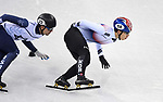 Daeheon Hwang (KOR, 58) and Vladislav Bykanov (ISR). Short track. Gangneung ice arena. Pyeongchang2018 winter Olympics. Gangneung. Republic of Korea. 10/02/2018. ~ MANDATORY CREDIT Garry Bowden/SIPPA - NO UNAUTHORISED USE - +44 7837 394578