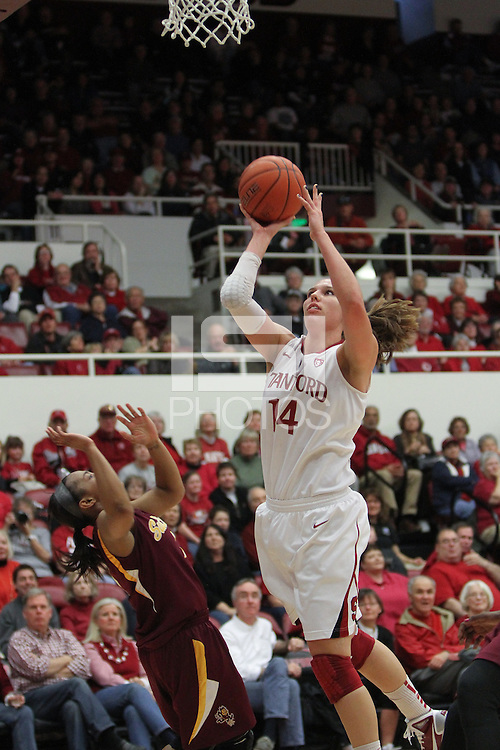 STANFORD, CA:  Kayla Pedersen during Stanford's 82-35 victory over Arizona State at Stanford, California on January 8, 2011.
